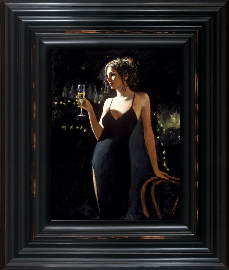 Image: Tiffany with Champagne by Fabian Perez | Limited Edition on Canvas